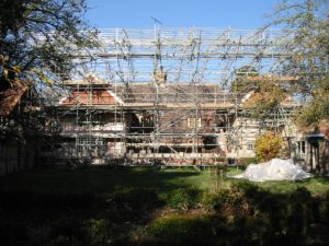 eco renovation project management | exterior during building works