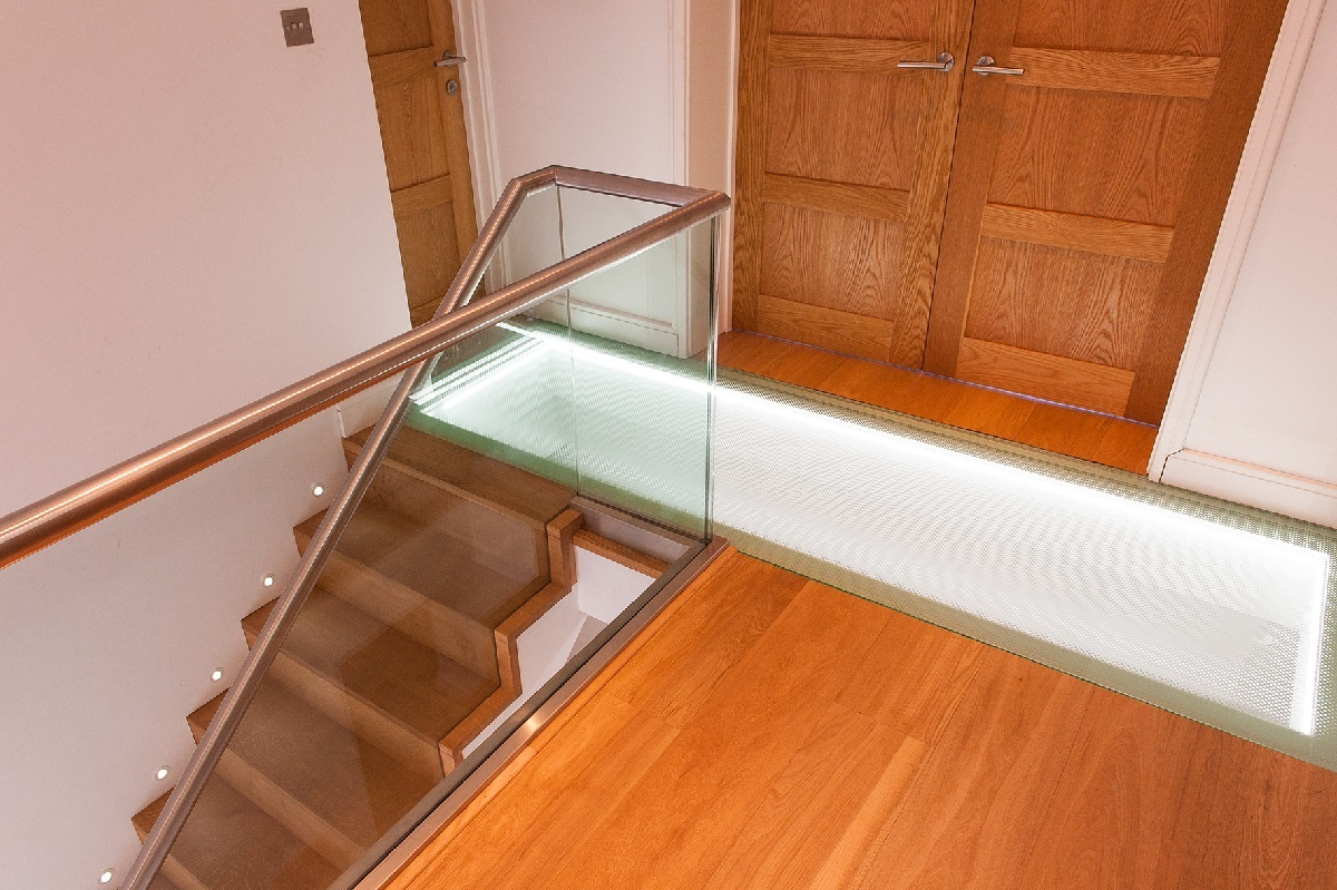 eco refurbishment project management glass floor