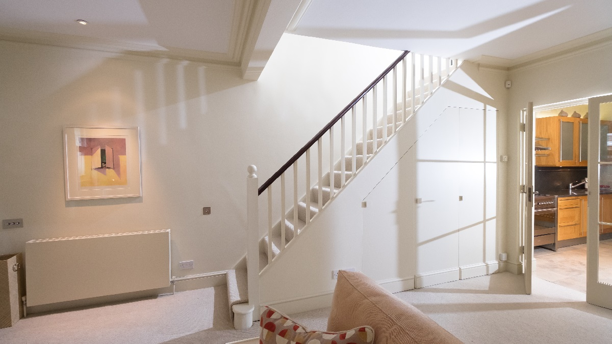 Renovation project management services London refurbished wall and staircase