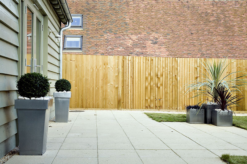 Residential project management company new build patio area