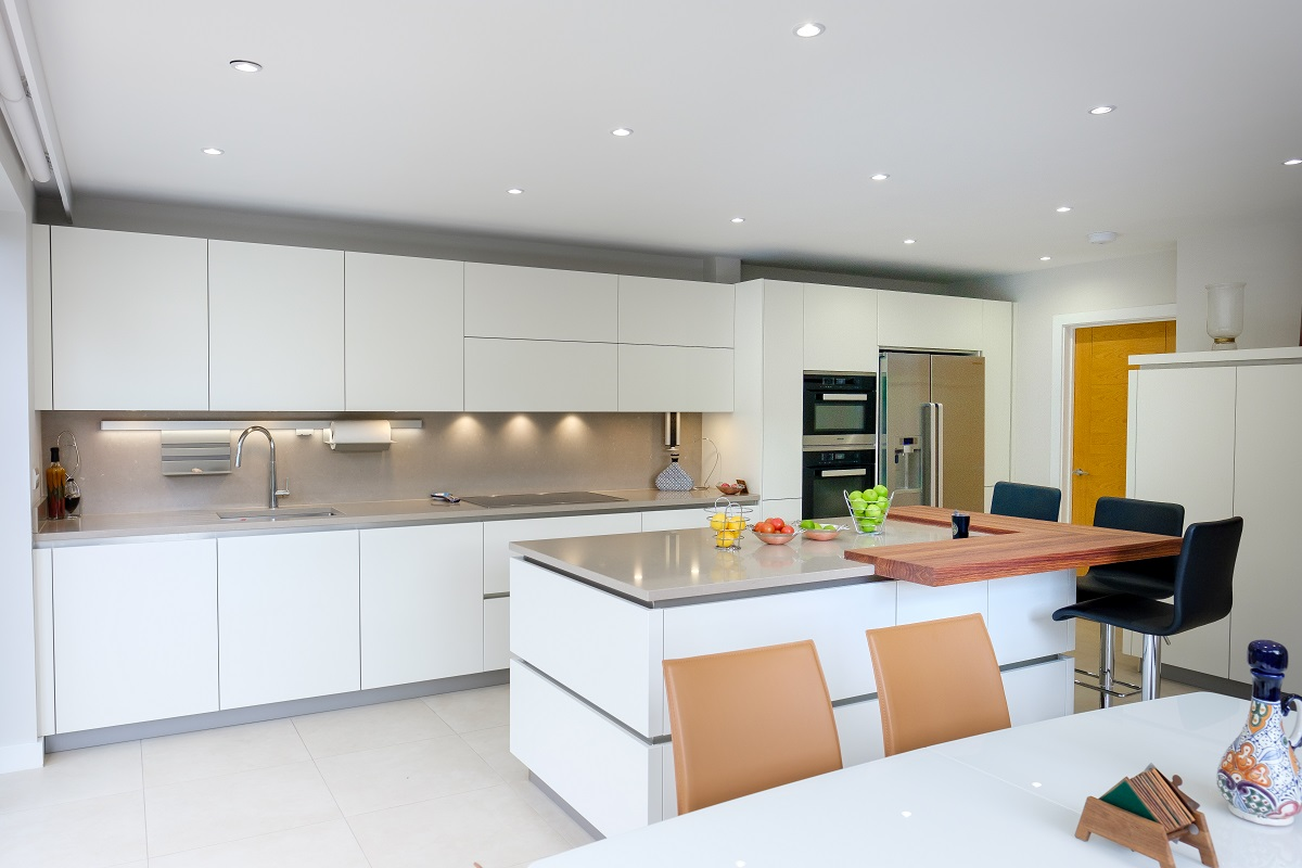 Leatherhead double storey extension kitchen with island