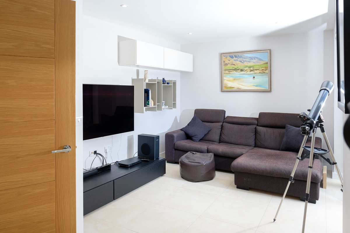 Leatherhead double storey extension sitting room