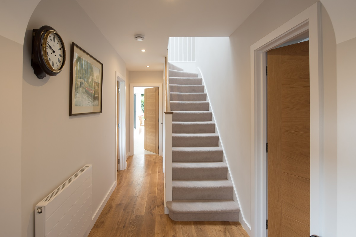 Leatherhead double storey extension staircase and hall