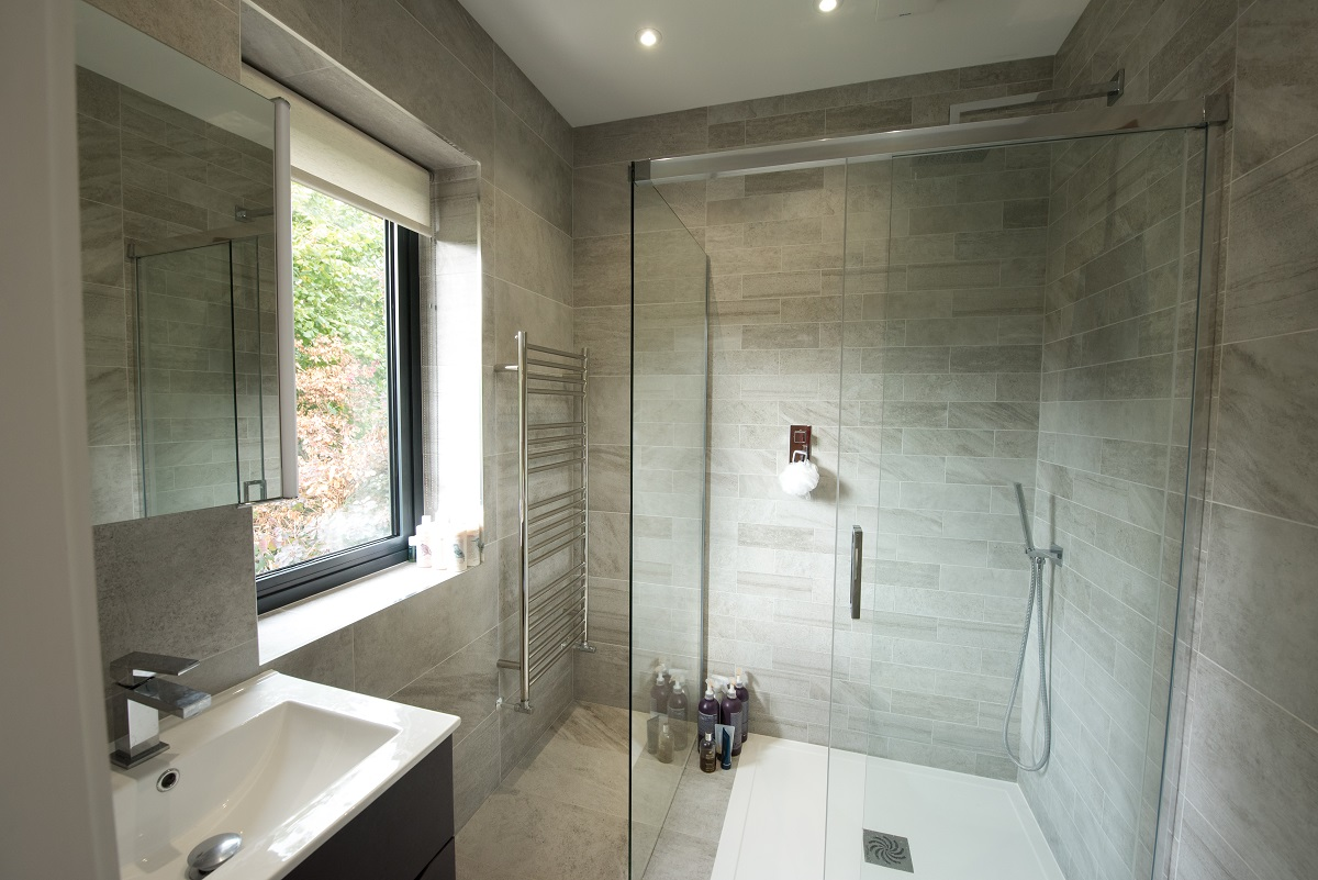 Leatherhead double storey extension bathroom