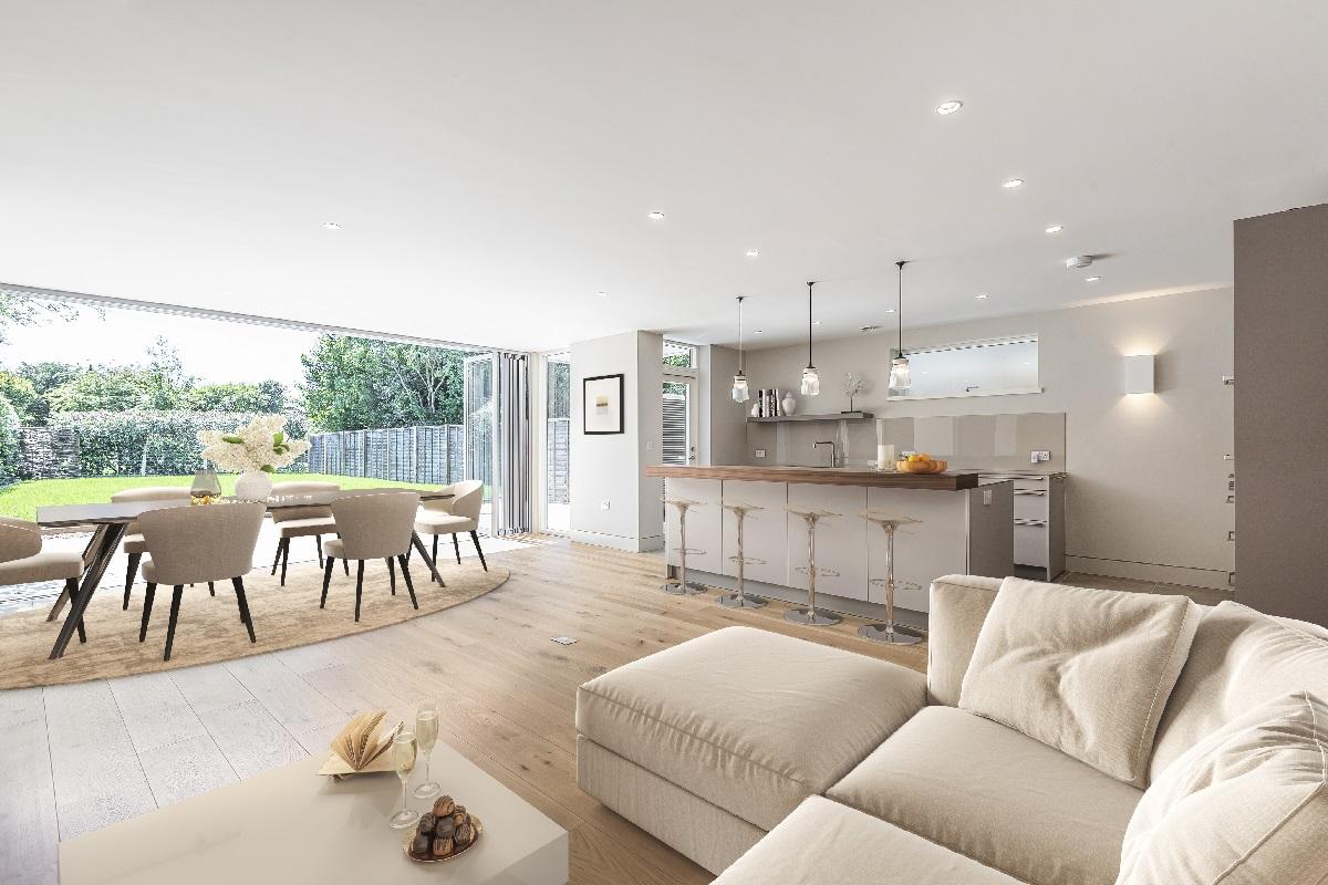 New Build Home Hertfordshire kitchen diner