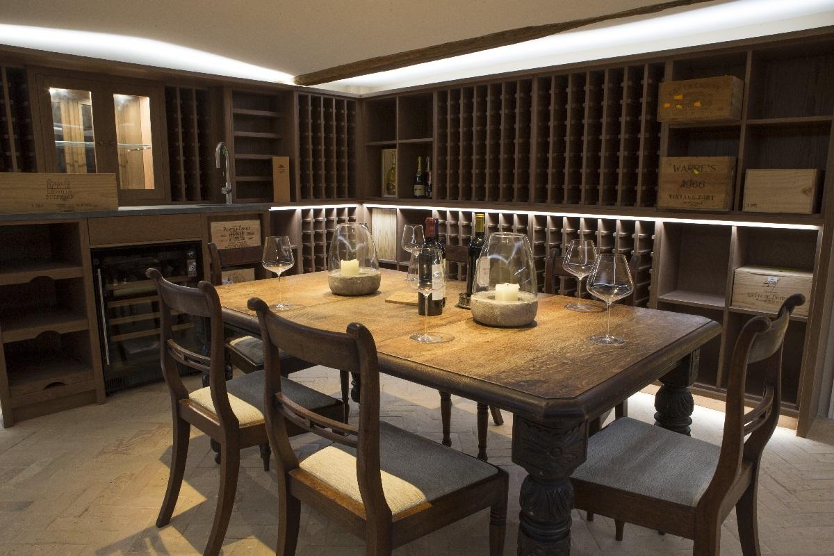 rectory renovation oxfordshire wine cellar