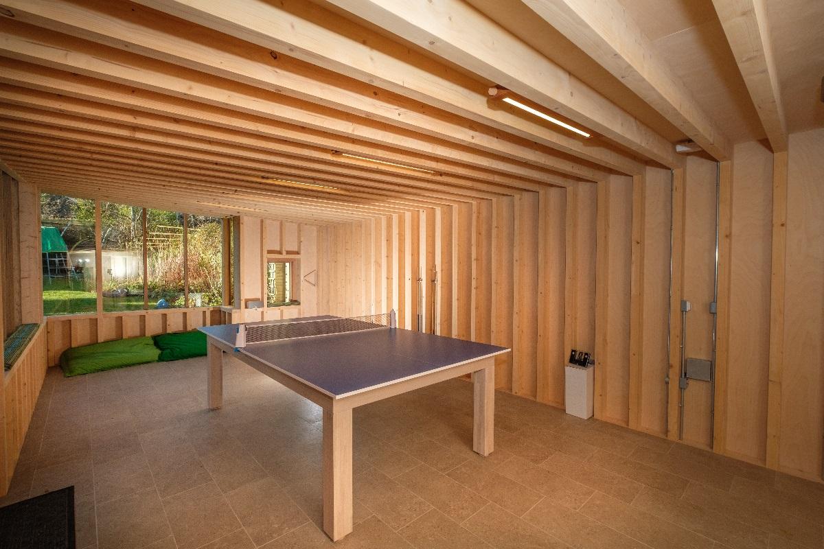 bespoke garden building interior